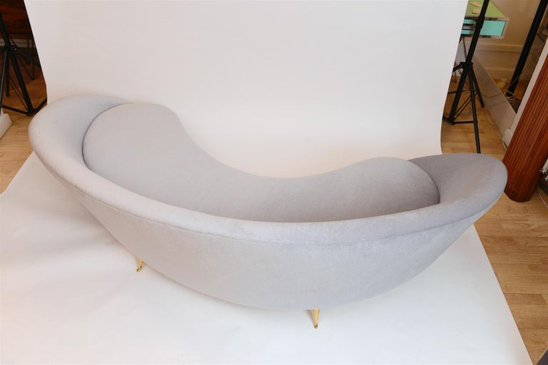 Mid-20th Century Frederico Munari Curved Sofa, circa 1950 For Sale
