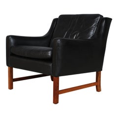 Frederik Kayser Lounge Chair, Rosewood and Leather, Norway