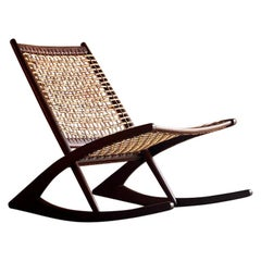 Frederik Kayser Model 599 Teak Rocking Chair, Norway, circa 1950s