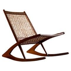 Frederik Kayser Model 599 Teak Rocking Chair, Norway, circa 1960s