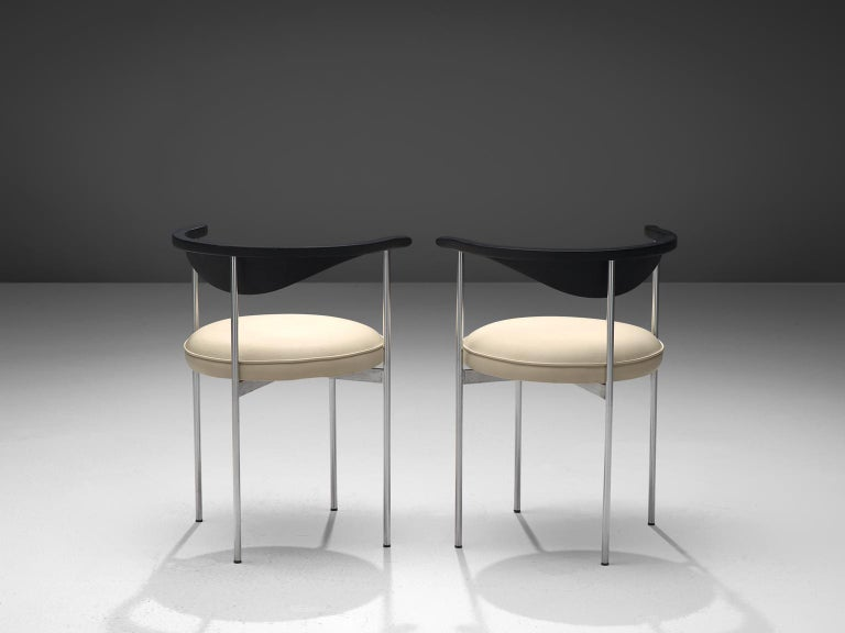 Scandinavian Modern Frederik Sieck Set of Four Dining Chairs For Sale