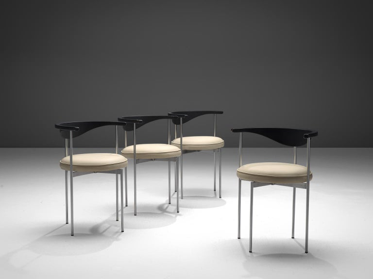 Danish Frederik Sieck Set of Four Dining Chairs For Sale