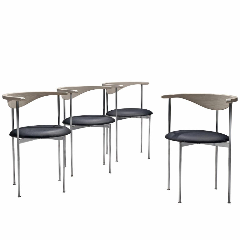 Frederik Sieck Set of Four Dining Chairs For Sale