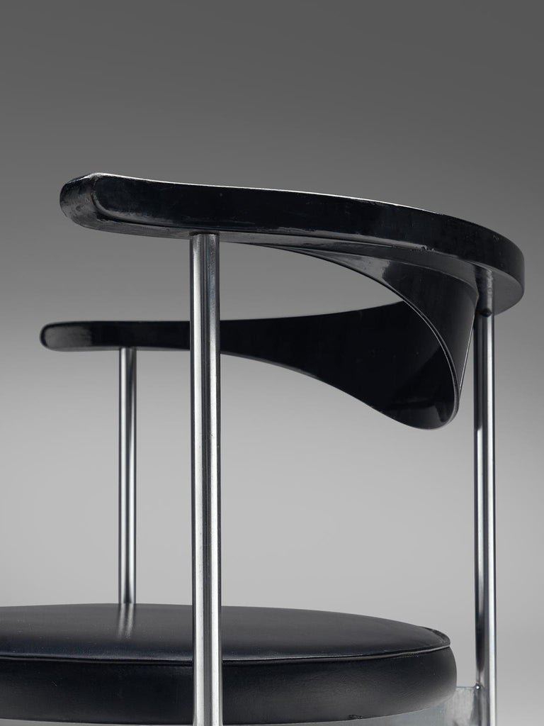 Frederik Sieck Set of Ten Black Dining Chairs For Sale 1
