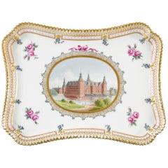 Frederiksborg Castle Porcelain Tray by Royal Copenhagen