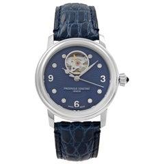 Frederique Constant Heartbeat Steel Blue Automatic Ladies Watch FC-310HBAND2P6