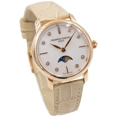 Frederique Constant Ladies Slimline Moon Phase FC-206MPWD1SD9, MOP Diamond Dial