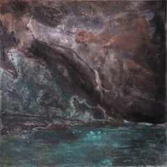Sur la Grève (On the Pebble Beach) - Abstract painting on metal