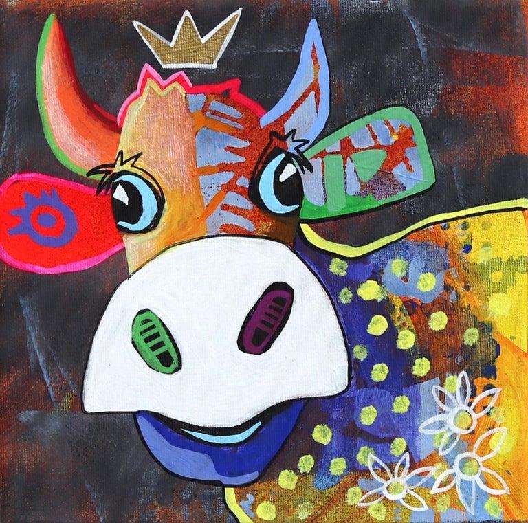 Fredi Gertsch Animal Painting - Tiara Tina