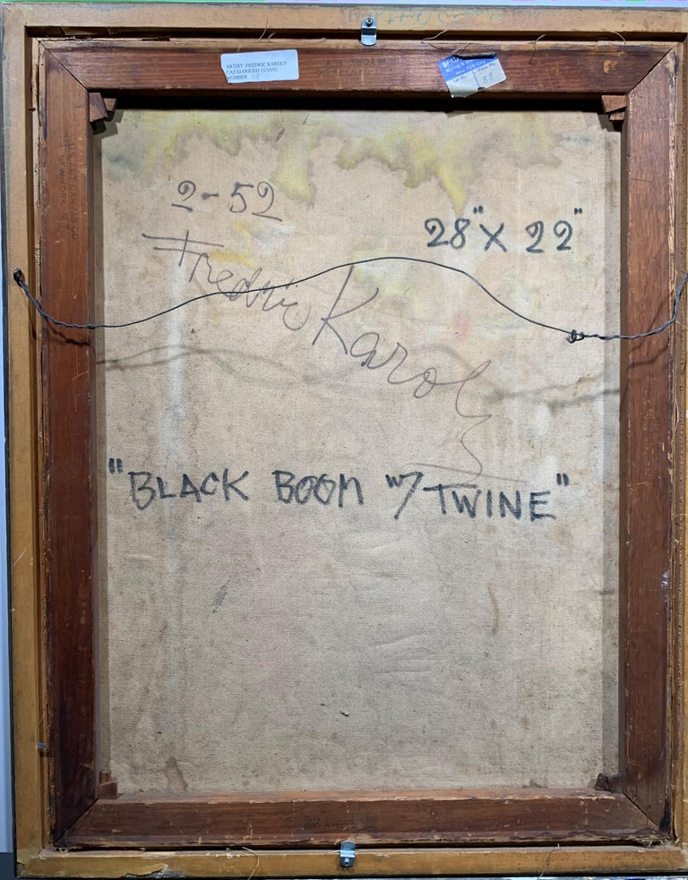 Black Boom w/ Twine (Abstract Expressionist painting) For Sale 7