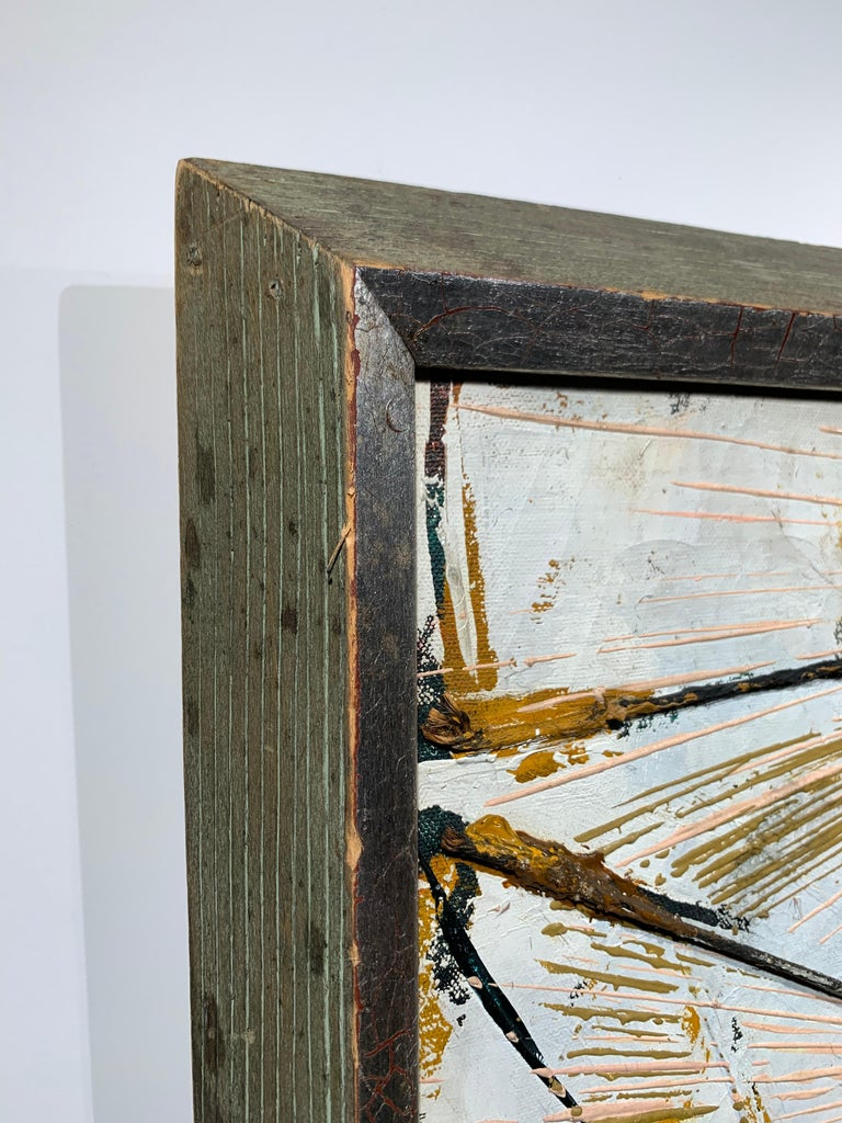 Black Boom w/ Twine (Abstract Expressionist painting) For Sale 1