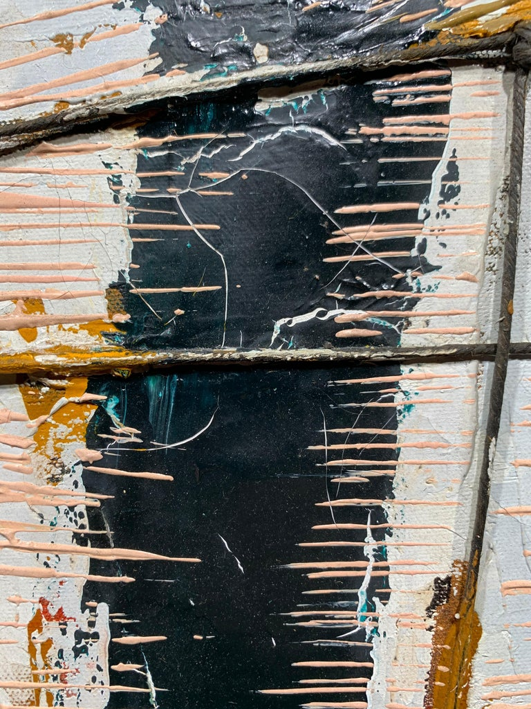 Black Boom w/ Twine (Abstract Expressionist painting) For Sale 4