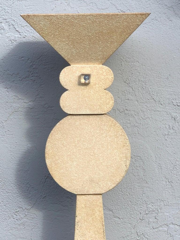 Fredrick Ramond Parchment Enamel Sculptural Floor Lamp/Torchiere 2