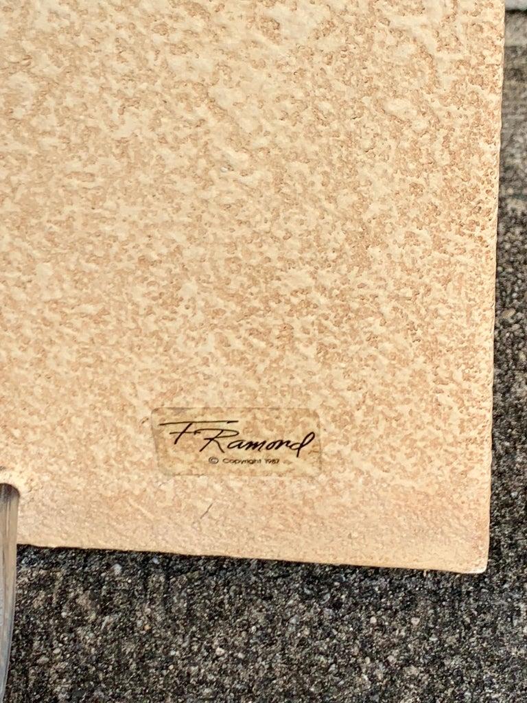 Fredrick Ramond Parchment Enamel Sculptural Floor Lamp/Torchiere 4