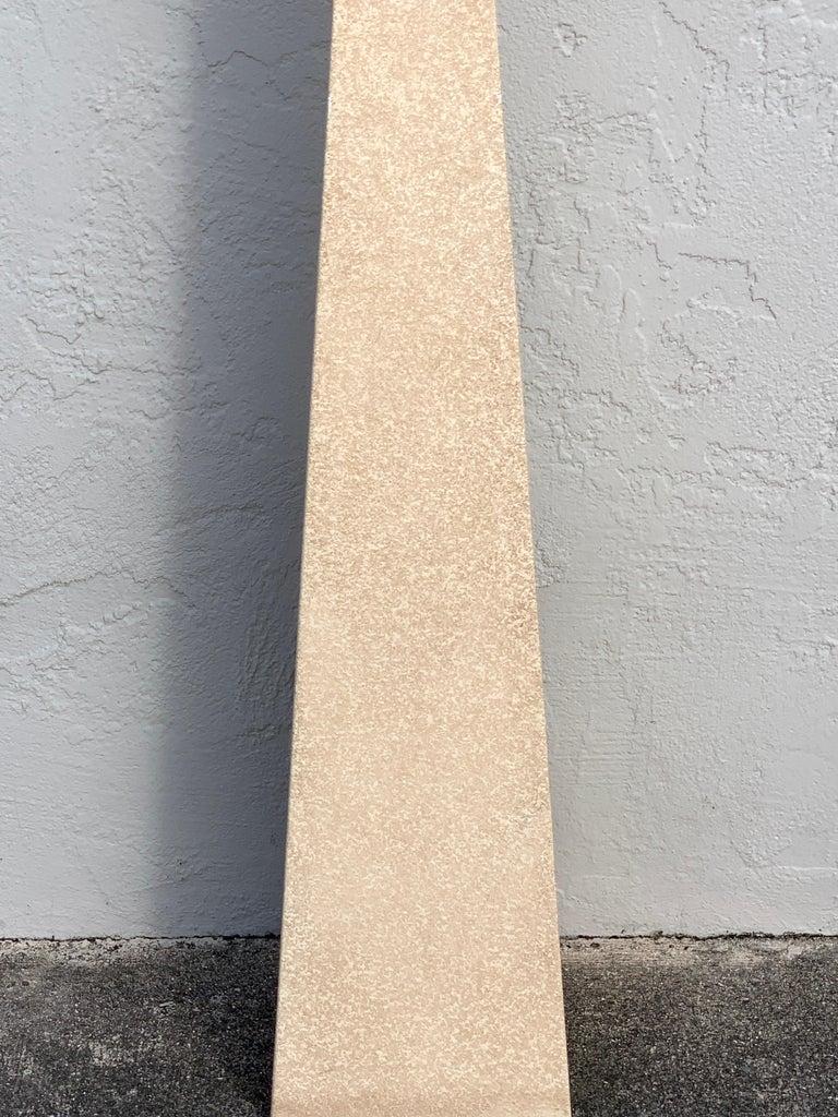 American Fredrick Ramond Parchment Enamel Sculptural Floor Lamp/Torchiere