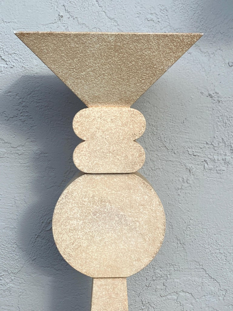 Enameled Fredrick Ramond Parchment Enamel Sculptural Floor Lamp/Torchiere