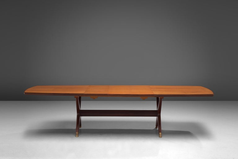 Fredrik A. Kayser 'Captains' Dining Table in Teak In Good Condition For Sale In Waalwijk, NL