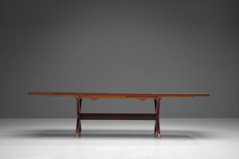 Mid-20th Century Fredrik A. Kayser 'Captains' Dining Table in Teak For Sale
