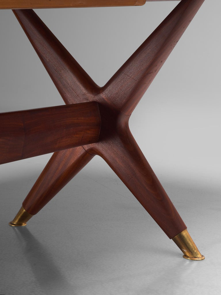 Fredrik A. Kayser 'Captains' Dining Table in Teak For Sale 1