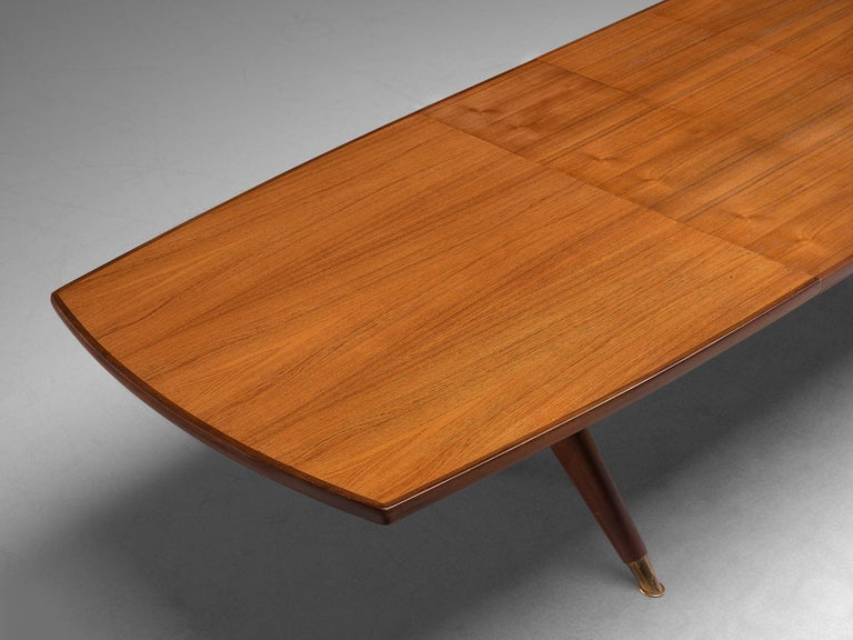 Fredrik A. Kayser 'Captains' Dining Table in Teak For Sale 2