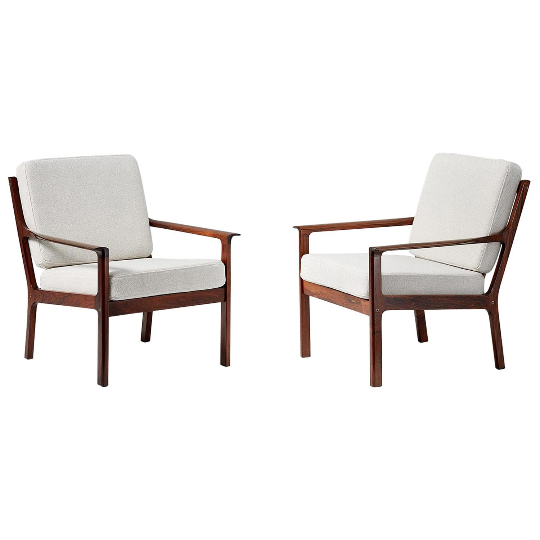 Fredrik Kayser Model 935 Vintage Rosewood Lounge Chairs