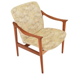 Fredrik Kayser Norwegian Teak Lounge Chair, Produced by Vatne