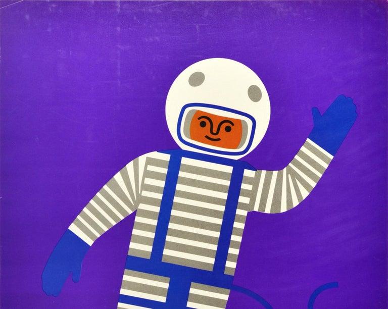 Original Vintage Poster Creative Playthings Educational Toys Spaceman Astronaut - Print by Fredun Shapur