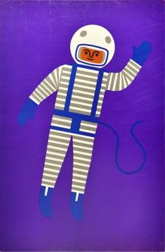 Original Vintage Poster Creative Playthings Educational Toys Spaceman Astronaut