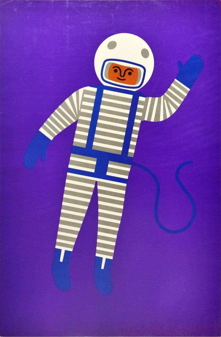 Fredun Shapur Print - Original Vintage Poster Creative Playthings Educational Toys Spaceman Astronaut