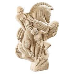 """Fredy-Balthazar Stoll '1869-1949' """"Ridden Horse"""" Large Art Deco Sculpture, 1925"""