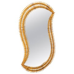 Free-Form Rattan Surround Mirror