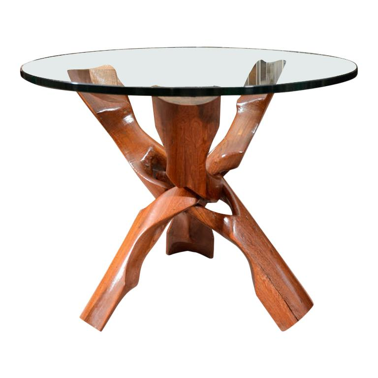 Free-Form Rosewood End Table For Sale