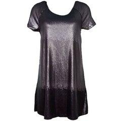 Free People Black & Grey Sequin Ombre Dress Sz S