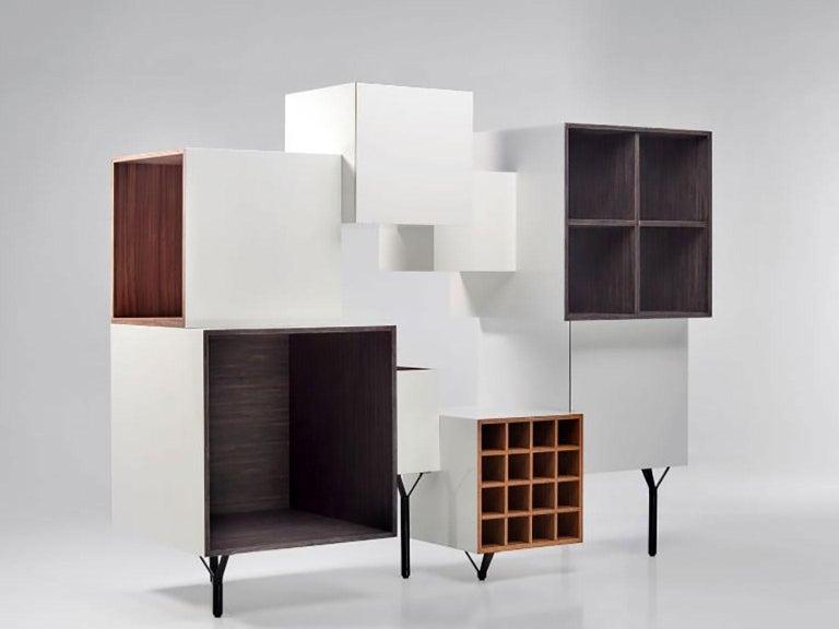 Wood Free Port Cabinet by Martí Guixé for BD Barcelona For Sale