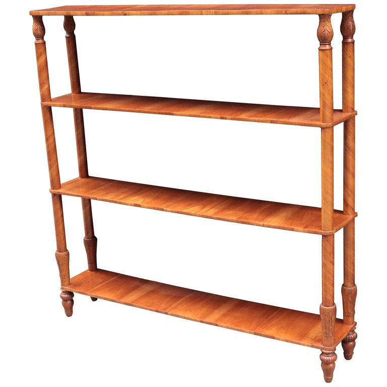 Free Standing Biedermeier Book Shelf For Sale