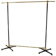 Free-Standing Clothes Rail/ Clothes Rack, Solid Brass, Steel, Cast Iron