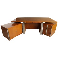 Free-Standing Executive Corner Desk by Ico Parisi for MIM Roma, Italy, 1960s