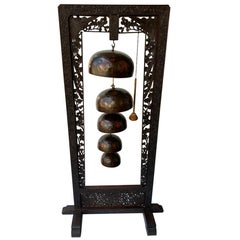 Free Standing Handcrafted or Carved Chinese Gong