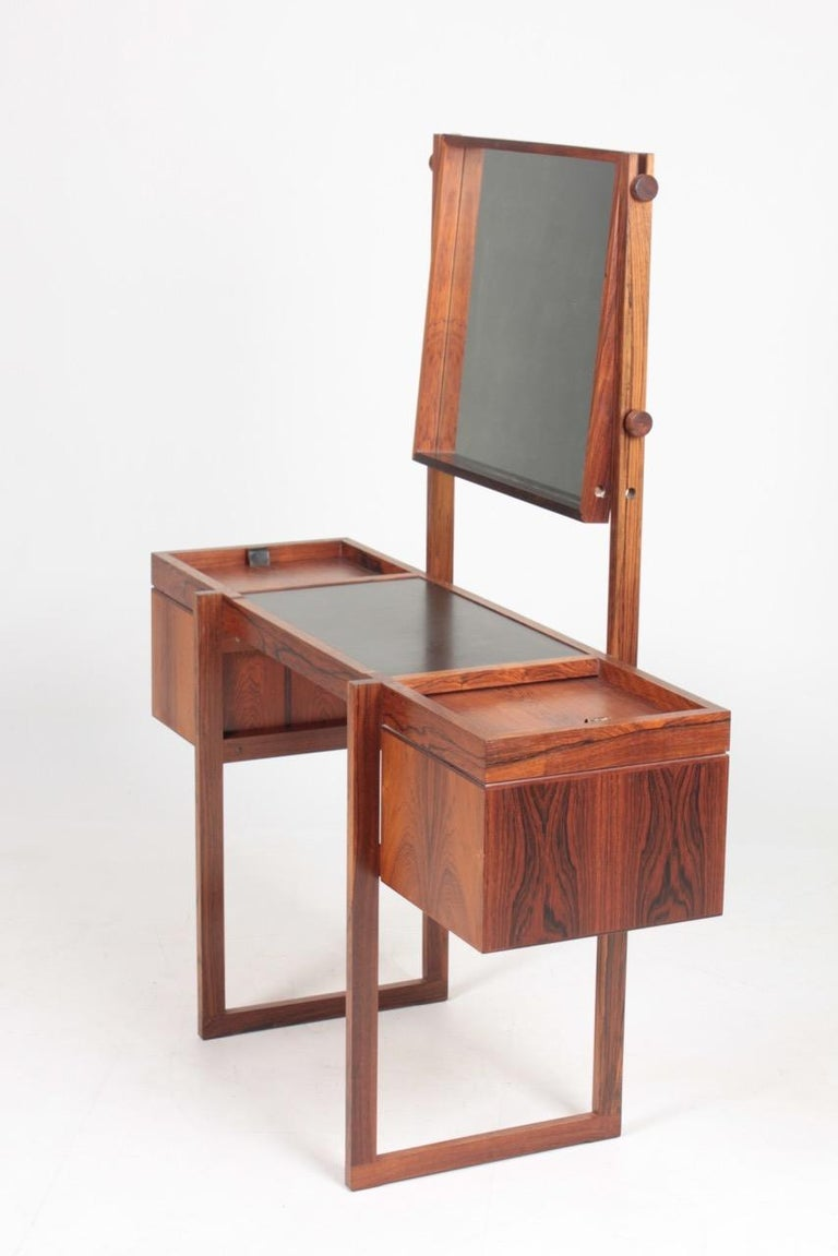 Mid-20th Century Free Standing Midcentury Vanity in Rosewood, Made in Denmark, 1960s For Sale