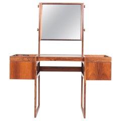 Free Standing Midcentury Vanity in Rosewood, Made in Denmark, 1960s