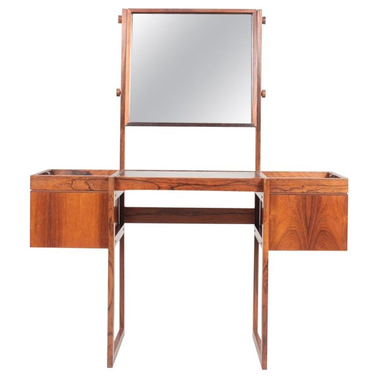 Free Standing Midcentury Vanity in Rosewood, Made in Denmark, 1960s For Sale