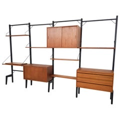 Free Standing Poul Cadovius for Royal System Wall System, Denmark, 1950s