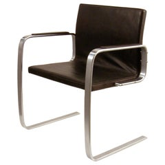 """Free Swinger"" Armchair in Leather by Poul Kjaerholm, circa 1974"