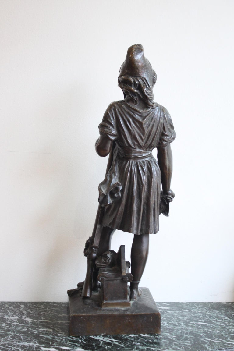Patinated Freedom by The People, David d' Angers, 19th Century For Sale