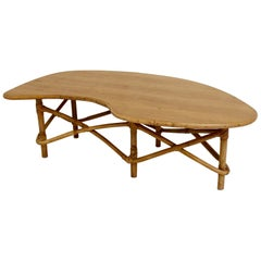 Freeform Bamboo Coffee Table, circa 1950, France
