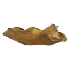 Freeform Bowl in Patinated Brass