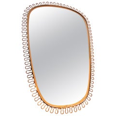 Freeform Brass Mirror by Josef Frank, Sweden, 1950