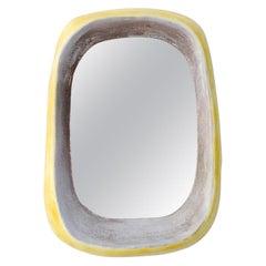 Freeform Ceramic Mirror, circa 1950, France