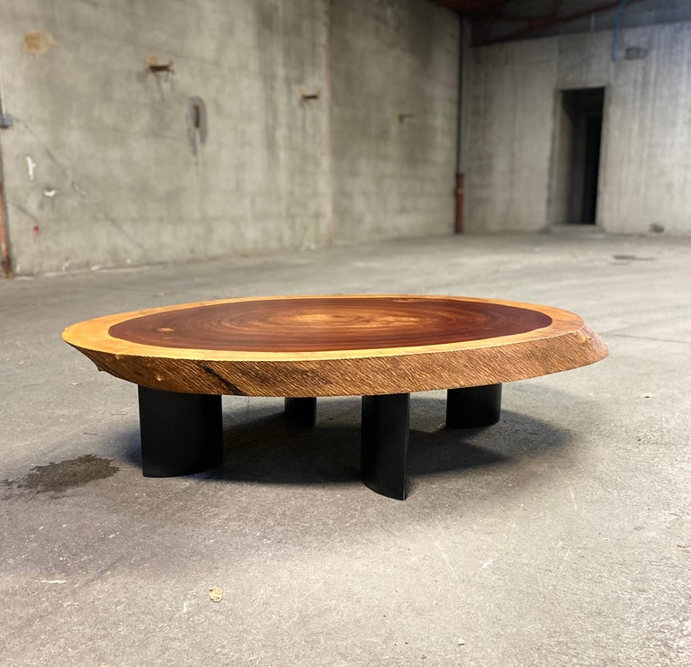1950 Freeform Mahogany Coffee Table Cocktail Table Side Table For Sale 7