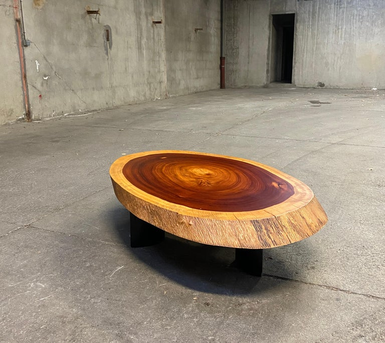 1950 Freeform Mahogany Coffee Table Cocktail Table Side Table For Sale 1